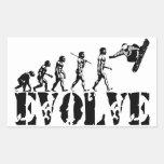 Snowboard Snowbording Sport Evolution Art Rectangle Stickers