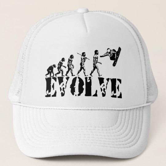 Snowboard Snowbording Sport Evolution Art Trucker Hat