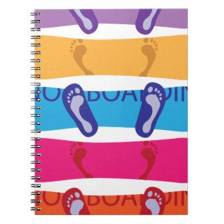 Snowboard Spiral Notebook