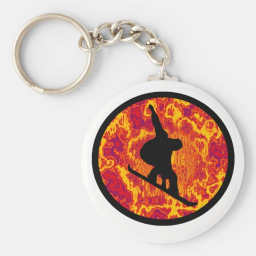 Snowboard Stoked Souls Keychains