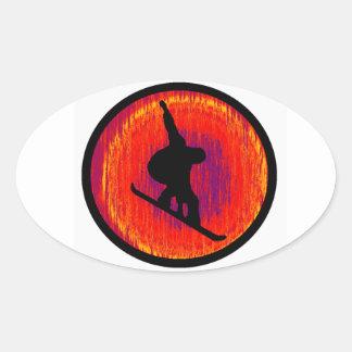 Snowboard Story Maker Oval Sticker