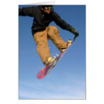 Snowboard Tail Grab Greeting Card