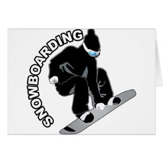 Snowboard Tarjeta De Felicitación