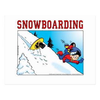 Snowboard Tarjeta Postal