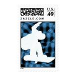 Snowboard Team Postage Stamp