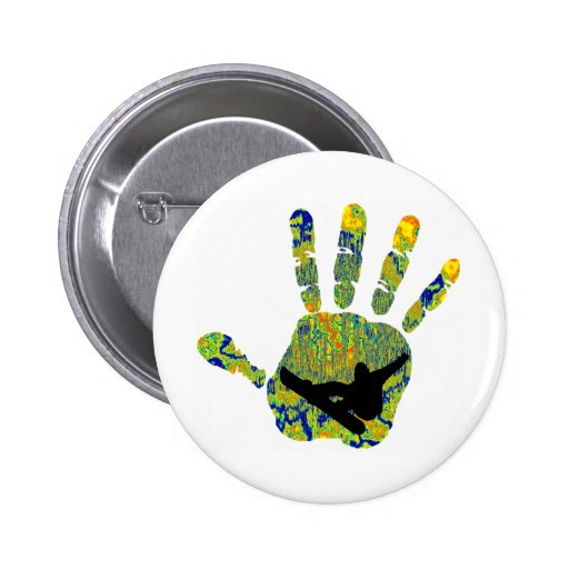 Snowboard The Hold Pinback Button
