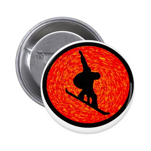 Snowboard the Sliders Pinback Button