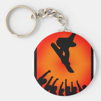 snowboard time zoned keychain