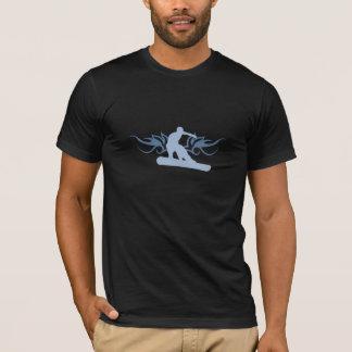 snowboard. tribalz. blue. T-Shirt