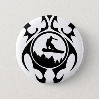 snowboard. tribalz. pinback button