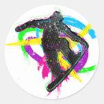 Snowboard Trick Round Sticker