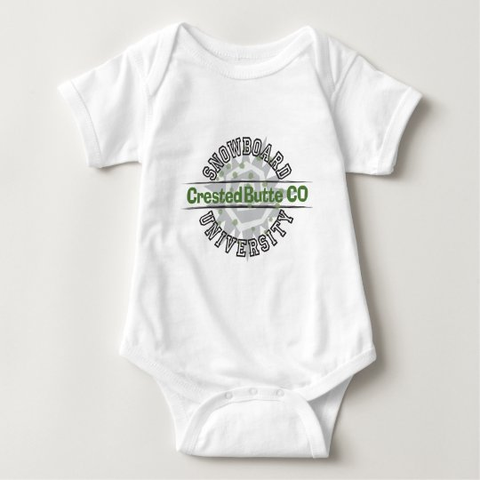 Snowboard University - Crested Butte CO Baby Bodysuit