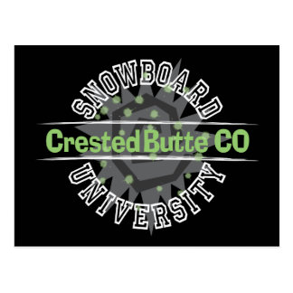 Snowboard University - Crested Butte CO Postcard