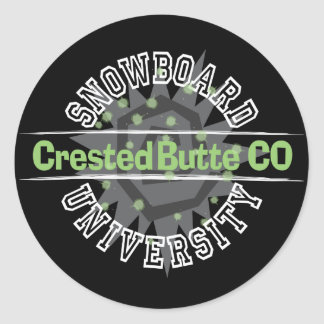 Snowboard University - Crested Butte CO Sticker