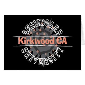 Snowboard University - Kirkwood CA Card