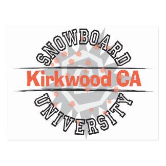 Snowboard University - Kirkwood CA Postcard