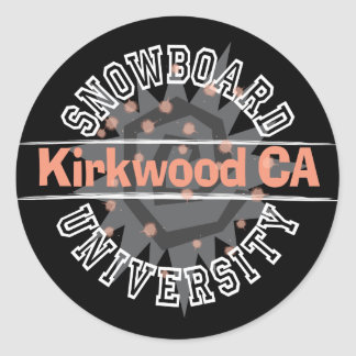 Snowboard University - Kirkwood CA Round Stickers