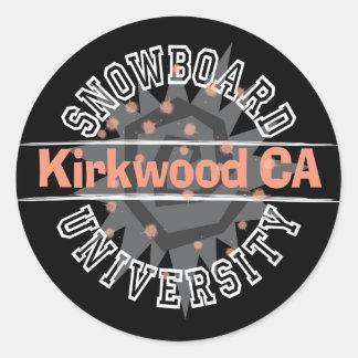 Snowboard University - Kirkwood CA Round Stickers