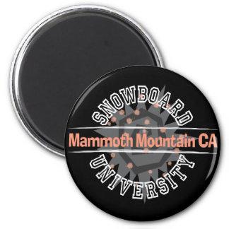 Snowboard University - Mammoth Mounain CA 2 Inch Round Magnet