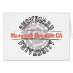 Snowboard University - Mammoth Mounain CA Greeting Card