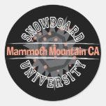 Snowboard University - Mammoth Mounain CA Classic Round Sticker