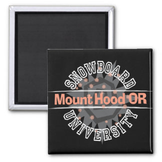 Snowboard University - Mount Hood OR 2 Inch Square Magnet