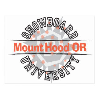 Snowboard University - Mount Hood OR Postcard