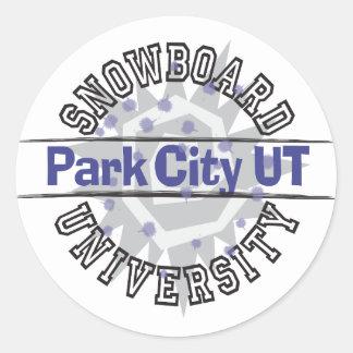 Snowboard University - Park City UT Round Stickers