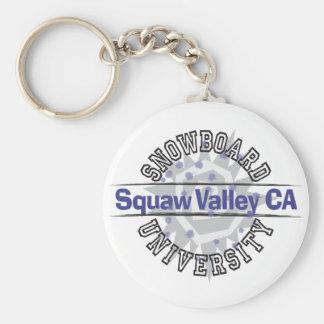 Snowboard University - Squaw Valley CA Keychain
