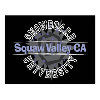 Snowboard University - Squaw Valley CA Postcard
