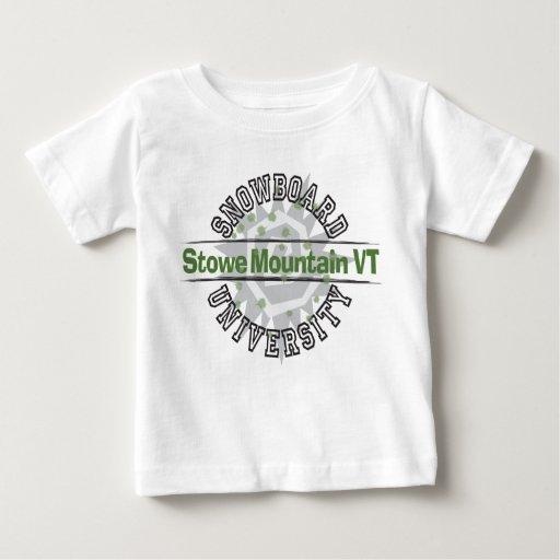Snowboard University - Stowe Mountain VT Baby T-Shirt