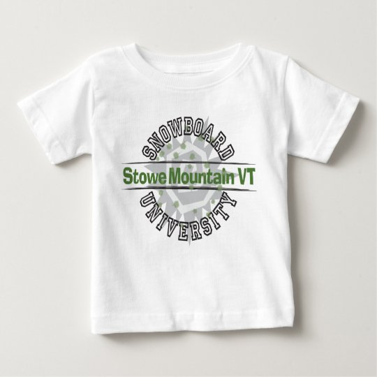 Snowboard University - Stowe Mountain VT Baby T-Shirt
