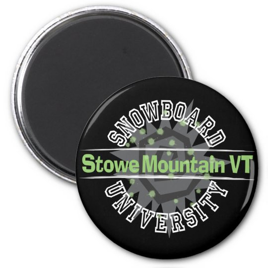 Snowboard University - Stowe Mountain VT Magnet
