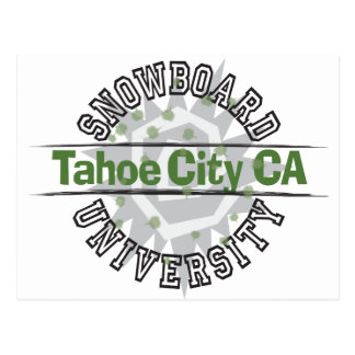 Snowboard University - Tahoe City CA Postcard