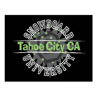 Snowboard University - Tahoe City CA Postcard