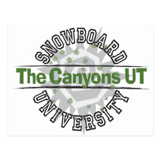 Snowboard University - The Canyons UT Postcard