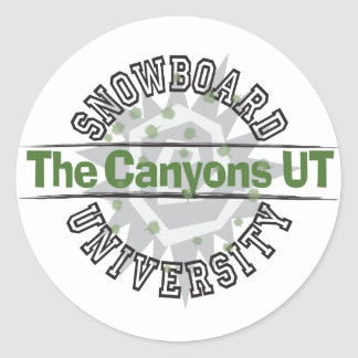 Snowboard University - The Canyons UT Sticker