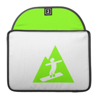 Snowboard verde chartreuse, de neón funda macbook pro