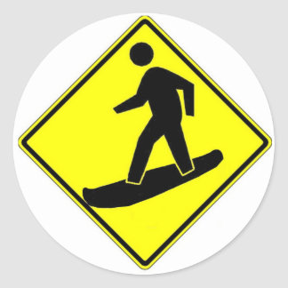 Snowboard Xing Classic Round Sticker