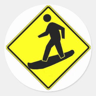 Snowboard Xing Pegatina Redonda