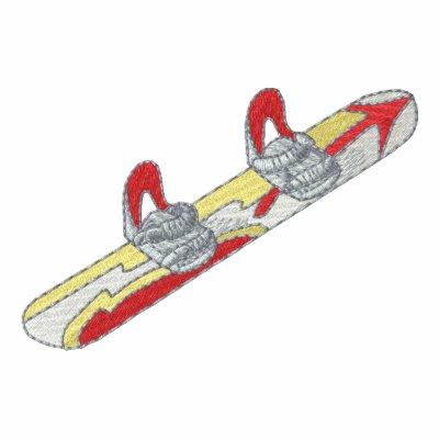 Snowboard y atascamiento polo bordado