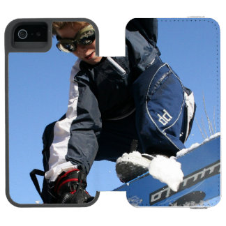 Snowboard Funda Cartera Para iPhone 5 Watson