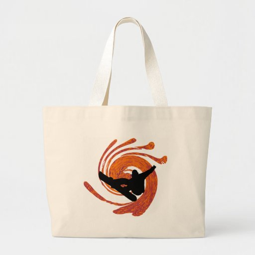 Snowboard zone of canvas bag