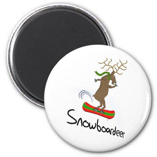 Snowboardeer 2 Inch Round Magnet