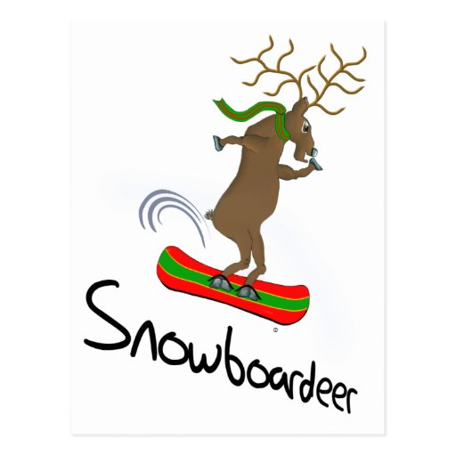 Snowboardeer Postcard