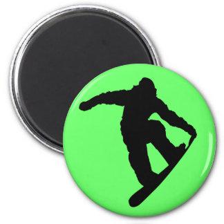 Snowboarder 2 Inch Round Magnet