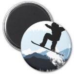 Snowboarder Action Jump
