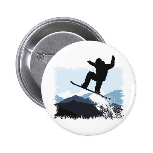 Snowboarder Action Jump Anstecknadel