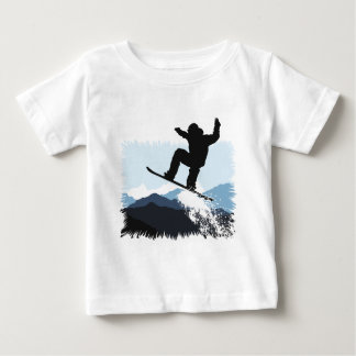 Snowboarder Action Jump Baby T-Shirt