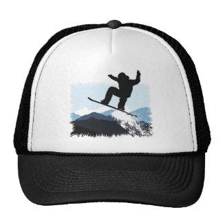 Snowboarder Action Jump Gorras De Camionero